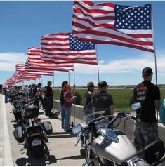 Nationalism--almost by definition--is a conformist ideology. Like a religion, it demands its followers adhere to tradition and display its symbols. By contrast, biker cultures typically present a rebellious face and claim to eschew the trappings of tradition. Against all odds, it seems, bikers in the U.S. are almost always ardent nationalists, as if simultaneously claiming to be rebellious and free to stand for the Pledge of Allegiance while ridiculing their peers for doing the same. American Freedom, American Pride, American Flag, Patriot Guard Riders, A Lovely Journey, Us Vets, Fight For Us, God Bless America, We The People