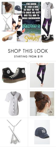 """Chapter 5"" by nicolemr01 ❤ liked on Polyvore featuring PF Flyers, LE3NO, Pin Show, Jewel Exclusive, American Needle and Leg Avenue"