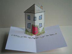 открытка с домиком