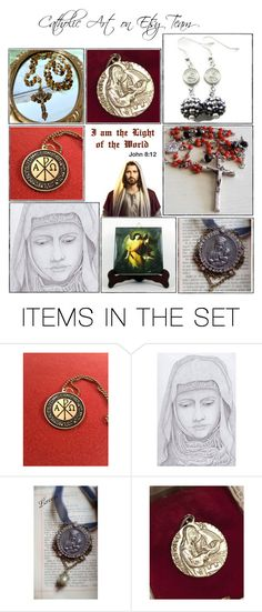 """Religious Art on Etsy by TerryTiles2014 - Volume 279"" by terrytiles2014 on Polyvore featuring arte, etsy, christian, art e catholic"