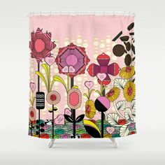 Confectionery Garden Shower Curtain by Michelle Nilson - $68.00