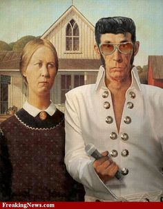 Image detail for -American Gothic Elvis pictures