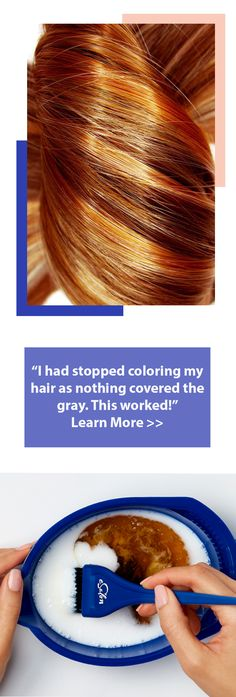 "Simple Solution for Coloring Gray Hair: ""I love this...it has saved me bundles of money. So easy to use and always comes out looking fabulous. Even my hairdresser likes it."""