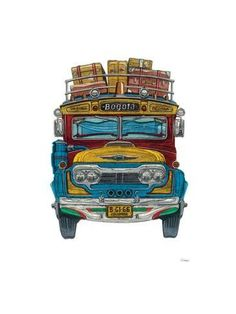 Giclee Print: Buses Wall Art by Barry Goodman : Framed Artwork, Wall Art, Stretched Canvas Prints, Painting Inspiration, Find Art, Giclee Print, Canvas Art, Art Prints, Buses