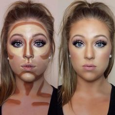 Easy Contouring for Beginners picture 1 Contour Makeup Products, Makeup Tips Contouring, Beginner Contouring, Contour Makeup Tutorials, Simple Contouring, How To Blend Contouring, Body Contouring, Best Contour Makeup, Contour Eyeshadow