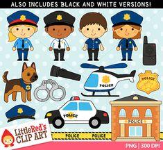 Imágenes Prediseñadas de la policía y Lineart por LittleRedsClipArt