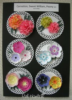 A Passion For Cards: Punch and Stamp flower examples