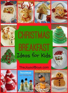 Snowman Pancakes: Fun Christmas Breakfast - The Joys of Boys