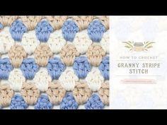 How To: Crochet The Granny Stripe Stitch | Easy Tutorial by Hopeful Honey - YouTube