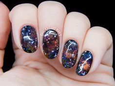This may look like it would take hours to replicate, but it's actually just a 30-minute process that involves using several different shades. See more on Chalkboard Nails »  - GoodHousekeeping.com