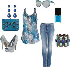 """""""Going Blue!"""" by barbie417 on Polyvore"""