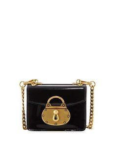 V3KKB Prada Micro Spazzolato Lock Bag