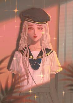Cute Girl Pic, Cute Girls, Art Girl, Boy Or Girl, Manga Watercolor, Manga Anime, Anime Art, Asian Image, Aesthetic Movies