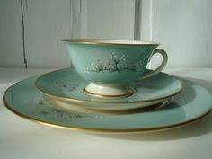 Vintage Tea Cup and Saucer  Teacup Trio in by SwirlingOrange11