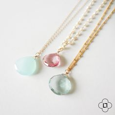 These gemstones are stunning! Theyre gorgeous little faceted pear-shaped beauties that look lovely paired with a textured chain. I wire wrapped them