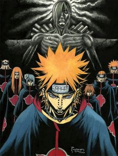 Pain the leader of the Akatsuki From Naruto Uzumaki, Anime Naruto, Madara Uchiha, Manga Anime, Boruto, Kakashi, Naruto Wallpaper, Wallpaper Naruto Shippuden, Anime Characters