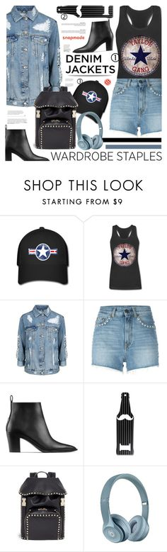 """""""Wardrobe Staple: Denim Jackets - Snapmade.com"""" by defivirda ❤ liked on Polyvore featuring Topshop, Yves Saint Laurent, Acne Studios, Valentino, vintage, denimjackets, WardrobeStaples and snapmade"""