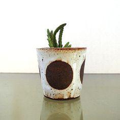 Ceramic Black Clay Dot Planter By Lovebugkiko On Etsy #jeneceramics  #madeinla #jenkuroki Great Ideas