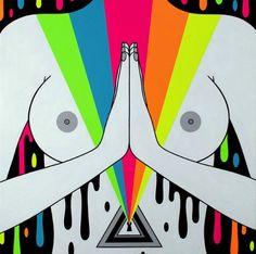 É fácil descrever as pinturas de Oliver Hibert as chamando de coloridas…