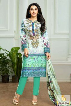 Search out bollwyood Indian actress Karishma Kapoor sea green off white pashmina salwar suit online with lowest price on Surat India fashion store at Pavitraa.in. Shop Now. #salwarsuit, #salwarkameez, #bollywoodsalwarsuit, #embroiderysalwarsuit, #karishmakapoorsalwarsuit, #casualsalwarsuit, #dailywearsalwarsuit, #formalsalwarsuit More : http://www.pavitraa.in/store/bollywood-salwar-suit/ Call / WhatsApp : +91-76982-34040  E-mail: info@pavitraa.in