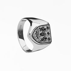 Mens Family Crest Ring | Shield Ring