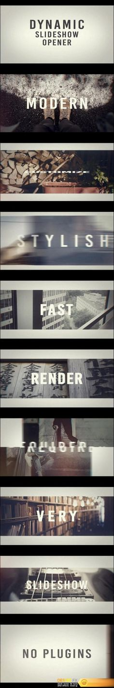 Dynamic Slideshow Opener After Effects Templates http://www.desirefx.me/motion-array-dynamic-slideshow-opener-after-effects-templates/