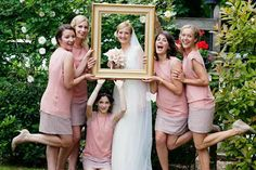 Bridesmaids, pink, chiffon, beads #Bridesmaids