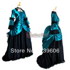 Free Shipping Custom Made Floor Length ROCOCO Ball Grown Gothic Medieval Victorian Dress Costume $109.98