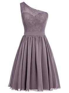 c14067f44d51 Dresstells® One Shoulder A-line Chiffon Prom Dress Bridesmaid Dress Evening  Party Dress: Amazon.co.uk: Clothing