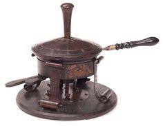 Onondaga Metal Shops (1901-1907) - Chafing Dish. Hammered Copper with Wood Handles. Syracuse, New York. Circa 1905.