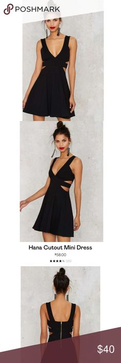 Uptown Black Hana Cutout Mini Dress Brand New from Nasty Gal or associated brand. New without tags. All items are authentic. Please refer to Nastygal.com for sizing or reviews if this listing doesn't give you the exact measurement your looking for. I'll be happy to answer any questions.   No Trade 📍 Nasty Gal Dresses Mini