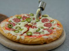 Handmade Miniature Wood Fired Pizza by Shay Aaron, via Flickr