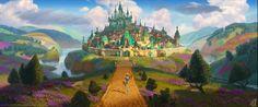 Emerald City, Anatoly Sokolov on ArtStation at https://www.artstation.com/artwork/K9dqB