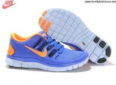 2013 Nike Free Run 5.0 Femmes de rouge orange et bleu