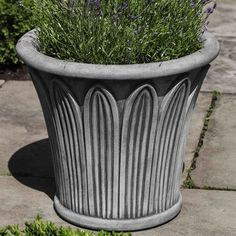 Campania International, Inc Palmetto Round Pot Planter Color: Brown Stone
