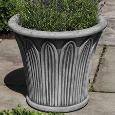 Campania International, Inc Palmetto Round Pot Planter Color: Travertine