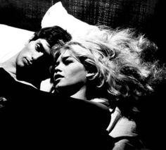 """Sami Frey and Brigitte Bardot in The Truth (1960) """