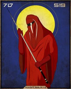 Icon of Saint RG-519, patron saint of the elite Imperial Royal Guards, martyred while aboard the second Death Star in service to Emperor Palpatine.