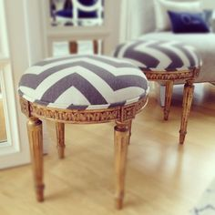 Chevron striped stools