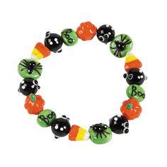Halloween Glass Bracelet Kit - OrientalTrading.com