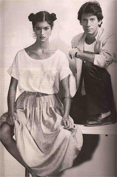 Janice Dickinson and Calvin Klein, 1977