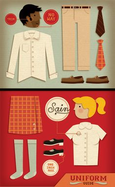 Private School Uniforms by Jessica Hische