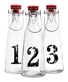 Numbered Bottle Set on #zulily