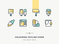 Easy Way To Colour Your Outline Icons