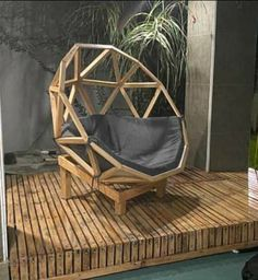 Pallet Wood, Wood Pallets, Geodesic Dome, Yard Landscaping, Outdoor Furniture, Outdoor Decor, Hanging Chair, Ph, Ideas