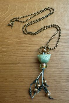 Made by Ellen L - Necklace (Bird by BlueBerriBeads)