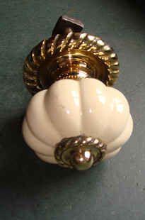 Pair of Victorian Brass Cottage Door Knobs | Antique Door Knobs ...