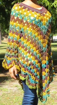 Yellow/Purple/Green  Women's Scallopedge Crochet by OneInEssence, $54.00