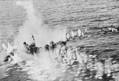 OCT  15 1944 Holland: Death in a minefield on the front line - See more at: http://ww2today.com/ The flak ship Vp1605 MOSEL, escorting the Norwegian freighter INGER JOHANNE off Lillesand, engulfed in a torrent of fire from Beaufighters of No 404 Squadron, one of which can be seen passing overhead at mast height, 15 October 1944. The ships were attacked by 21 Beaufighters and 17 Mosquitos of the Banff and Dallachy Wings. The MOSEL eventually blew up and sank.