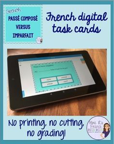 These tactics truly worked for me when ever I was going over French Teaching Resources, Teaching French, Teaching Ideas, Teaching Tools, High School French, French Class, Spanish Class, Passe Compose French, Communication Activities